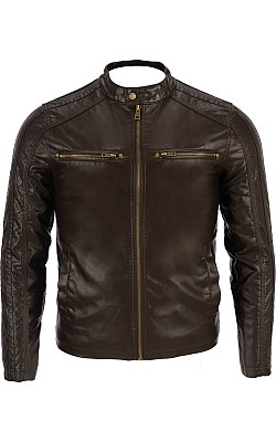 Big & Tall Black Rivet Faux-Leather Moto Jacket - Wilsons Leather