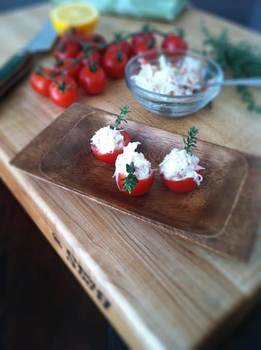 Cherry Tomato & Crab Bites | Awesome Food and more... | Pinterest