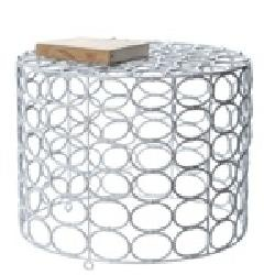 White Oval Ring Side Table - Lazy Susan