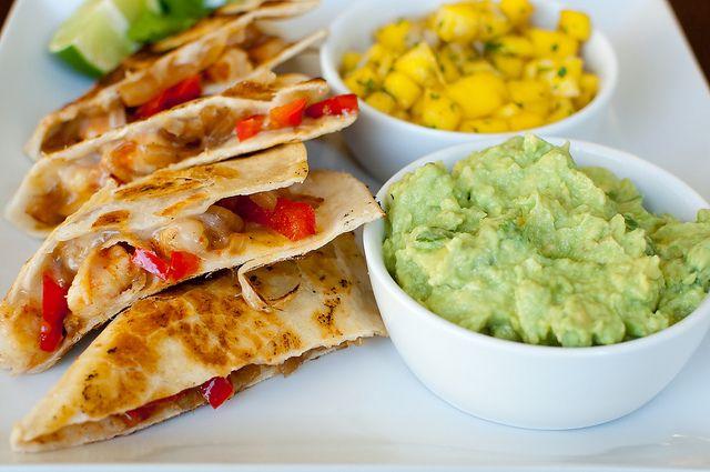 shrimp quesadillas | Food + Drink | Pinterest