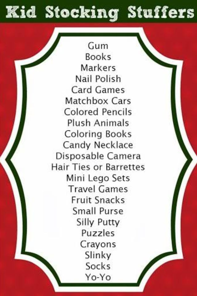 stocking stuffers ideas for kids fun ideas christmas