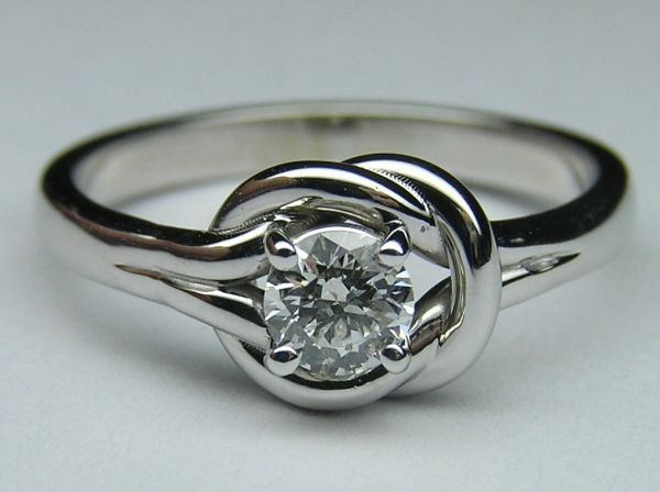 love knot solitaire engagement ring jewellery pinterest