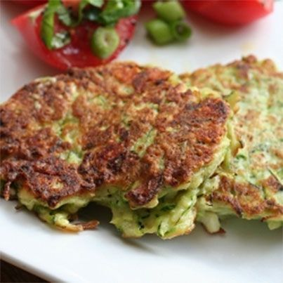 Zucchini Fritters with Feta & Dill | Vegetarian | Pinterest