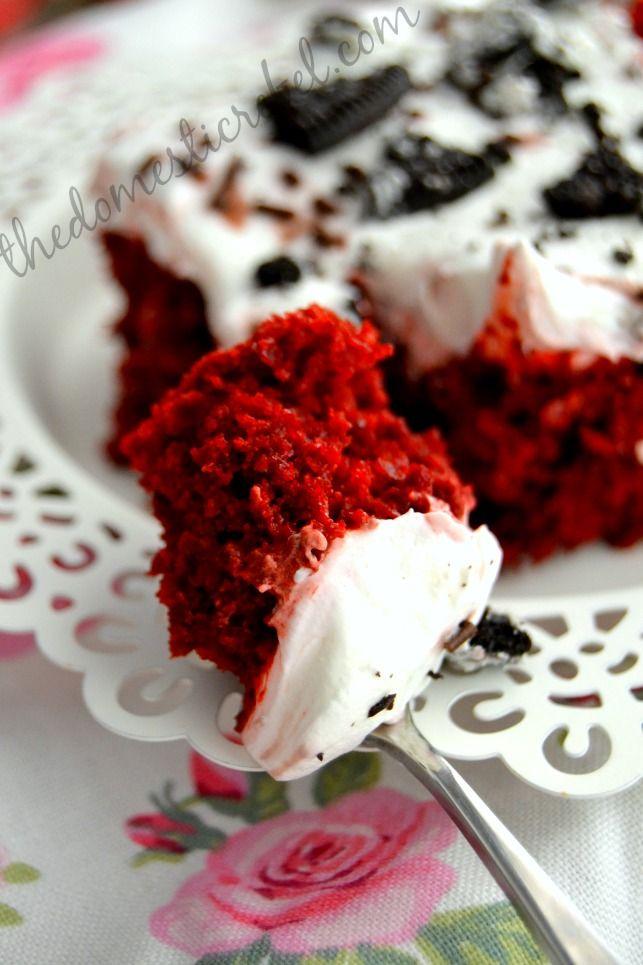 Skinny Red Velvet Poke Cake | Velvet | Pinterest