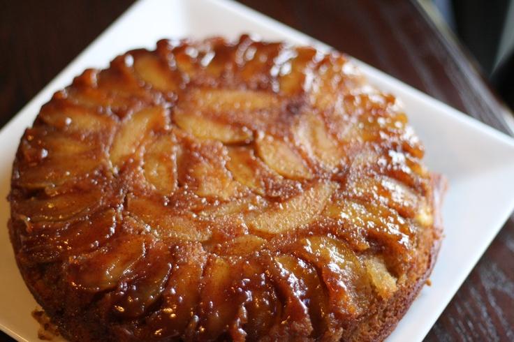 apple cinnamon upside down cake | watch the waistline | Pinterest