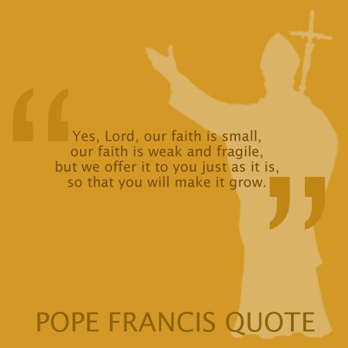Pope Francis Quote - faith