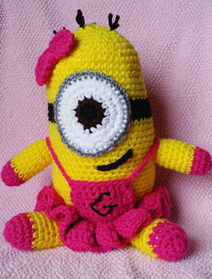 Amigurumi Crochet Minion : Crochet minion amigurumi