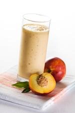 Make a peach smoothie using bigalow herb peach flavored tea love it