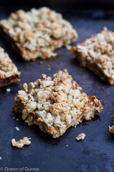 Gluten-Free Apricot Oatmeal Bars - great idea for a delicious treat.