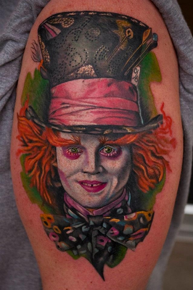 Mad Hatter tattoo by Matty McTatty | Tattoos I Love ...