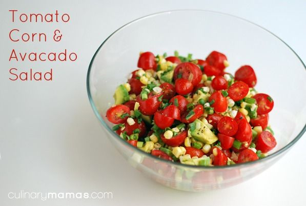 Tomato Corn and Avocado Salad - A super easy & healthy salad to whip ...