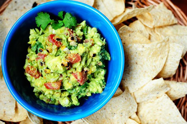 The Pioneer woman's take on Chili's Roasted Corn Guacamole. so good