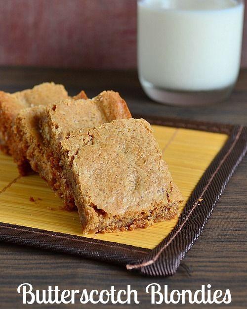 Easy Butterscotch Blondies Recipe | Recipes | Pinterest
