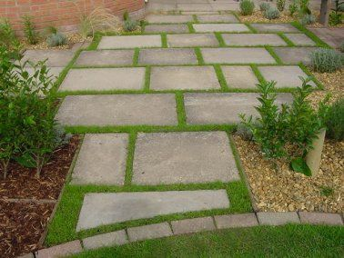 Paving slabs with micro clover home pinterest for Garden slab designs