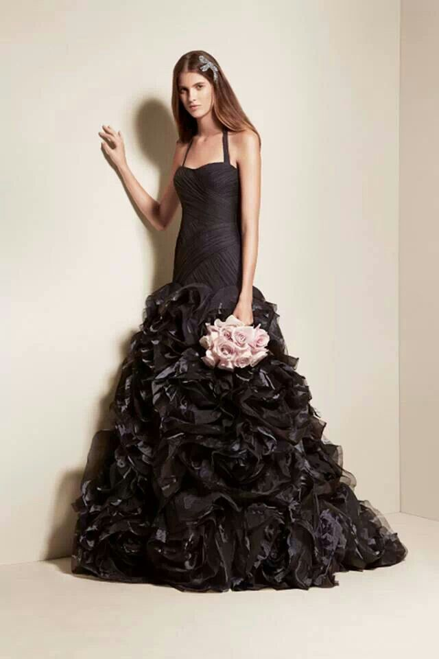 Black Wedding Dress Wedding Style Pinterest