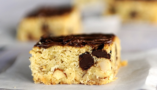 Hazelnut Blondies Recipe — Dishmaps