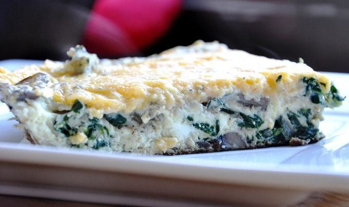 spinach, mushroom, and onion frittata | Healthy, Fresh, Doable | Pint ...