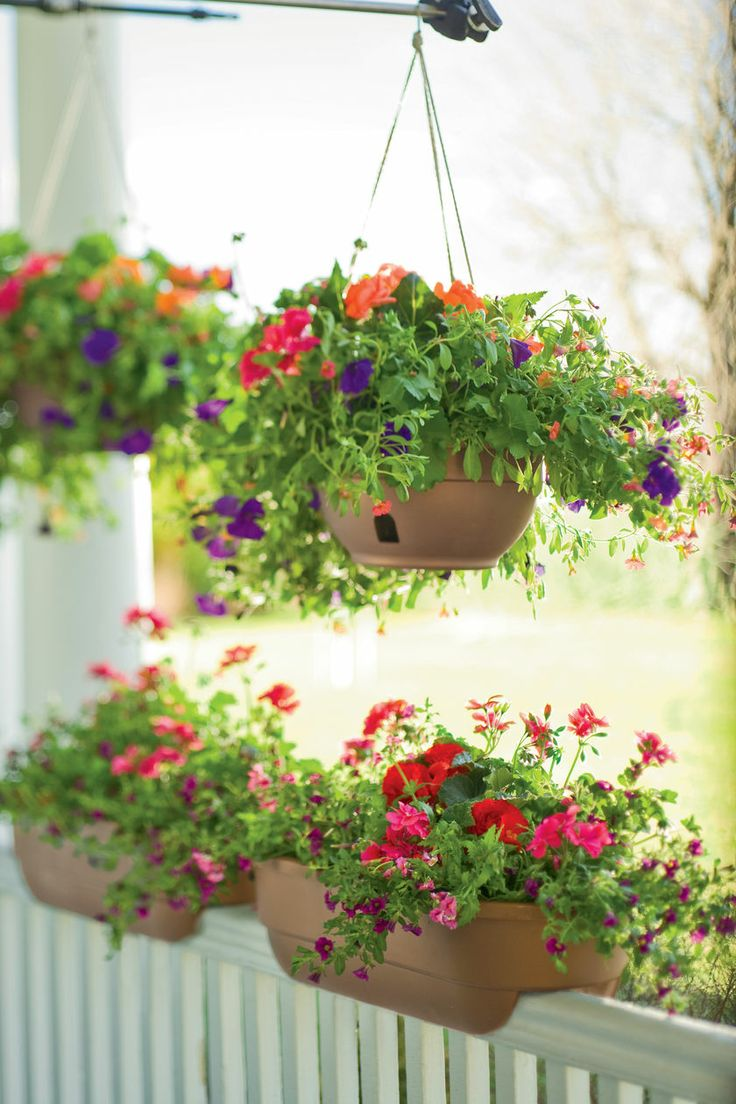 Hanging Flower Baskets Railings : Quot railing planter
