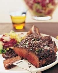 More like this: steak au poivre , rib eye steak and ribs .
