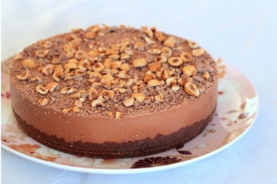 Nutella Cheesecake (recipe) | Food/drinks | Pinterest