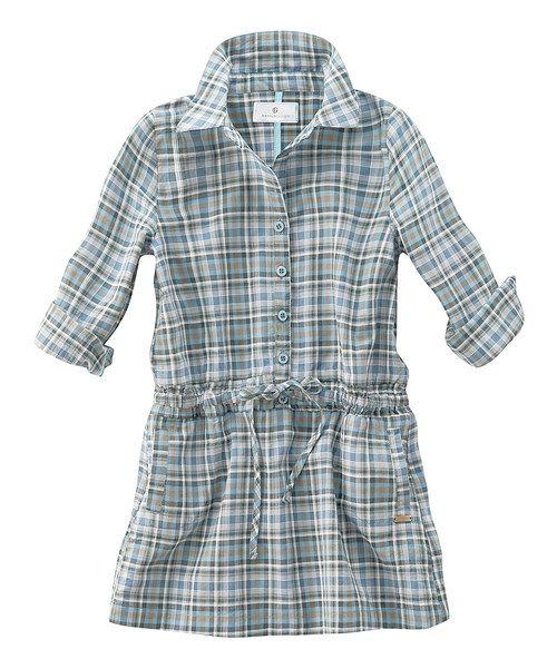 Blue Plaid Shirt Dress Infant Toddler & Girls
