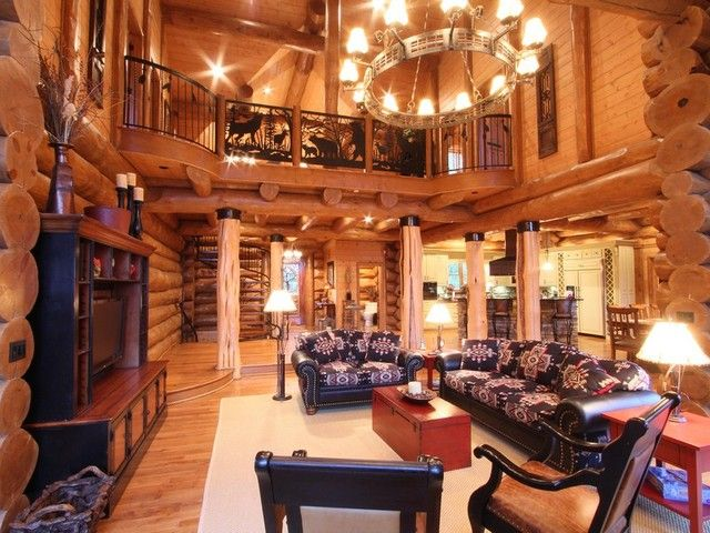 log cabin living room my wishes for a home pinterest