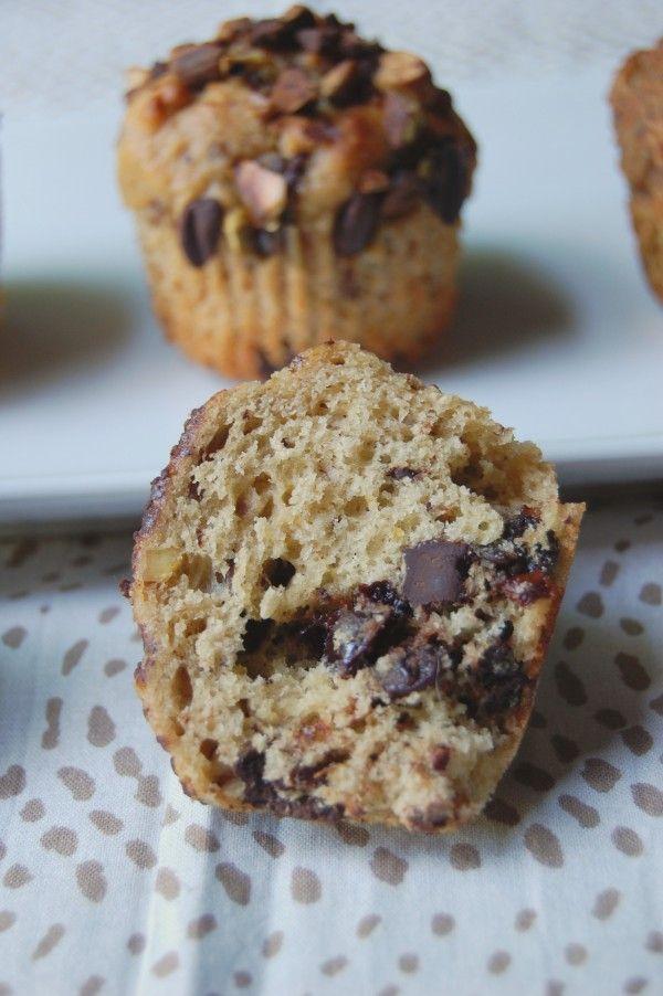 sweet betweens » Dark Chocolate Pistachio Cherry Muffins
