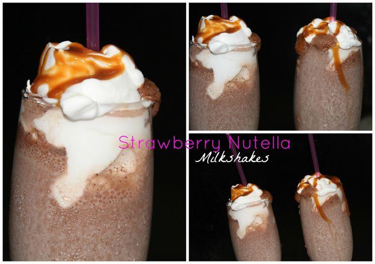 Strawberry Nutella Milkshakes Recipe | My Cooking and Baking | Pinter ...