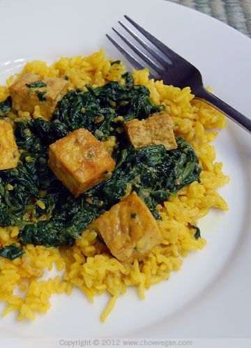 Saag Tofu, from the book The Inspired Vegan by Bryant Terry--I've made ...