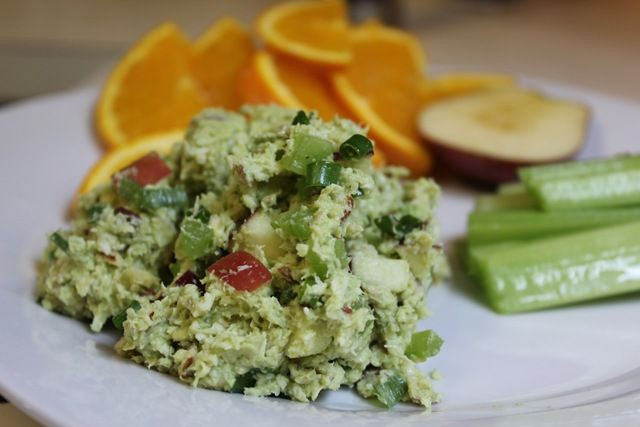 avocado chicken (or tuna) salad - no recipe on this link, just the ...