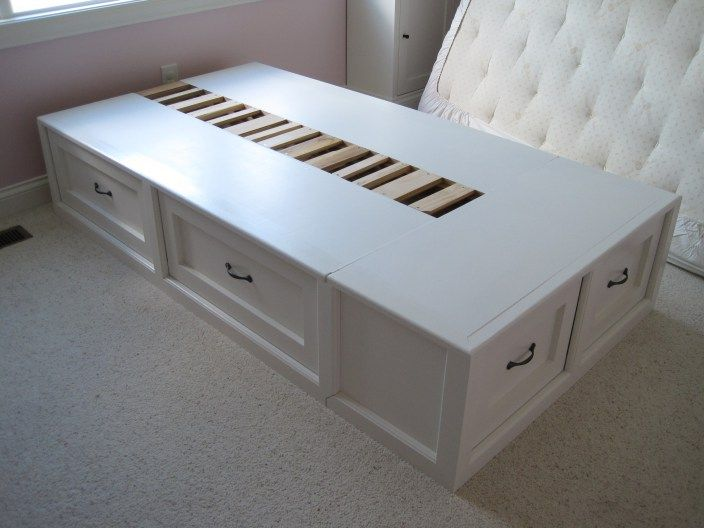 DIY captains storage bed. Wow would this be nice for the boys room!