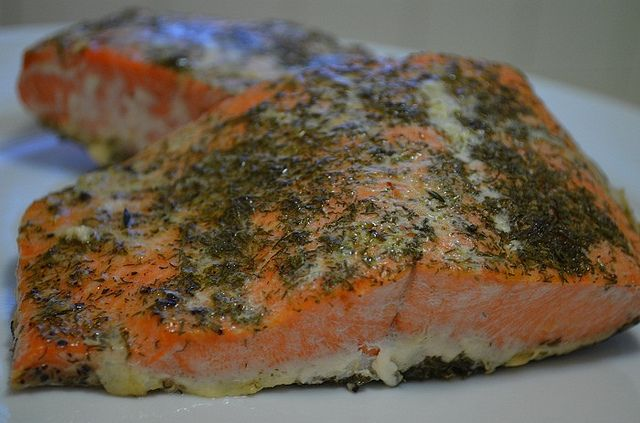 Baked Salmon with Dill and Thyme \ by myhalalkitchen