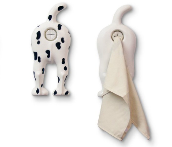Dog-End Towel Holder.