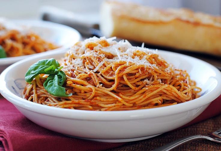 Red Pepper Pesto over Angel Hair Pasta | Pasta to Try | Pinterest