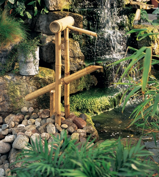 Shishi odoshi bamboo design build pinterest - Shishi odoshi bamboo water feature ...