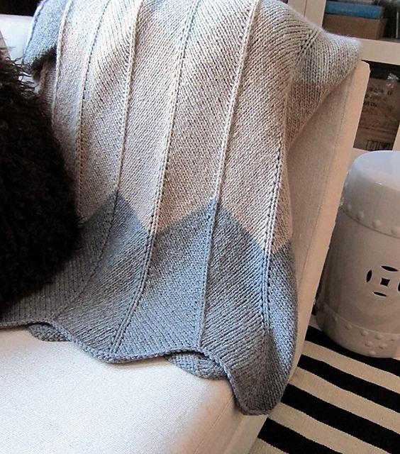 Chevron Knit Blanket Pattern : chevron; those colors! knitting Pinterest