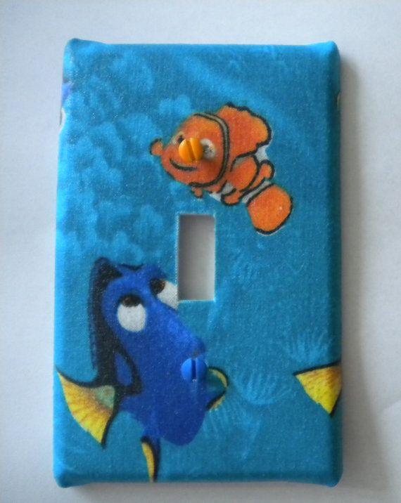 Disney nursery pixar : Finding nemo light switch covers