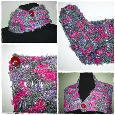 Knitting Pattern For Silk Scarf : knitted sari silk scarf. free pattern! sari silk yarn Pinterest