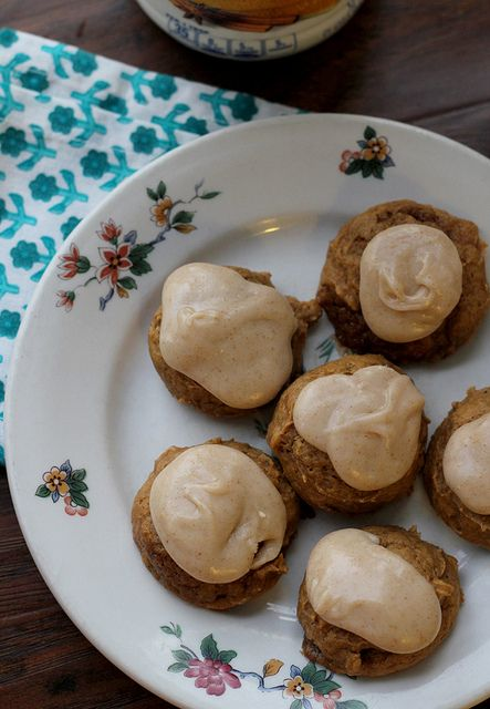 Malted Pumpkin Cookies with Brown Butter Frosting | Recipe
