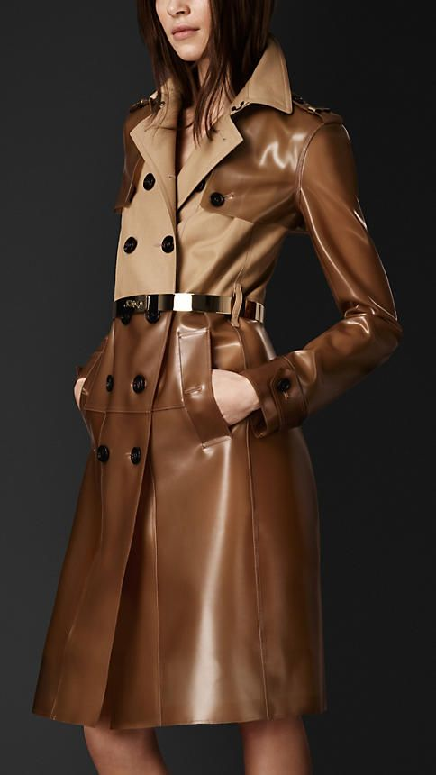Gabardine Rubber Trench Coat | Burberry