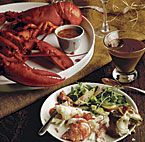 Day Dinner: Vodka-steamed Lobster with Tomato-Thyme Butter Sauce ...