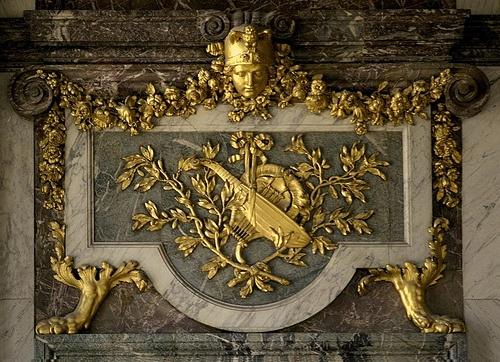 Salon de la Paix-Versailles - One of the four art works placed above the doors of the Salon de la paix, in the château...