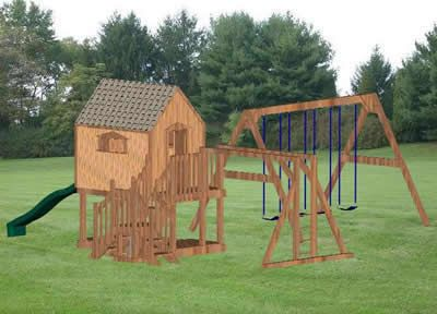 Wooden swing set plans for kids kids pinterest for Wooden swing set plans