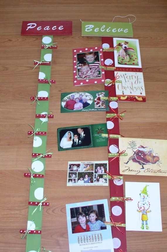 Christmas Card Holder Wooden Card Display