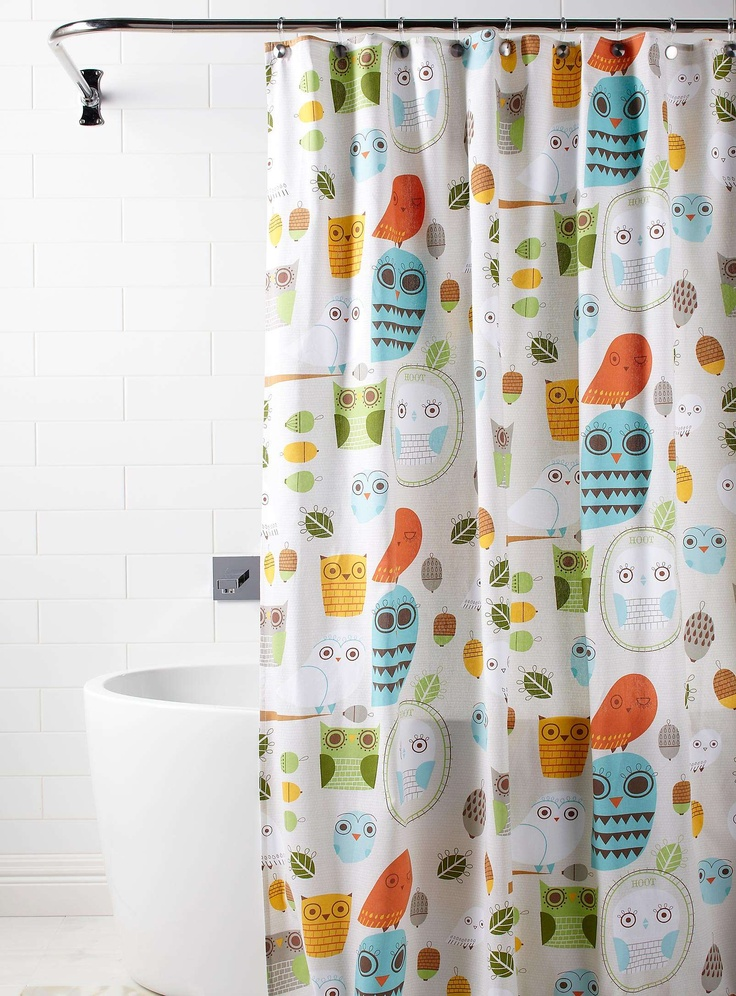 owl shower curtain some fun stuff for kids pinterest