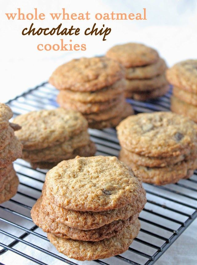 Delicious and Healthy Whole Wheat Oatmeal Chocolate Chip Cookies ...
