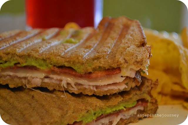 bread, turkey, bacon, guacamole, cheese | Sammies, burgers, and torti ...