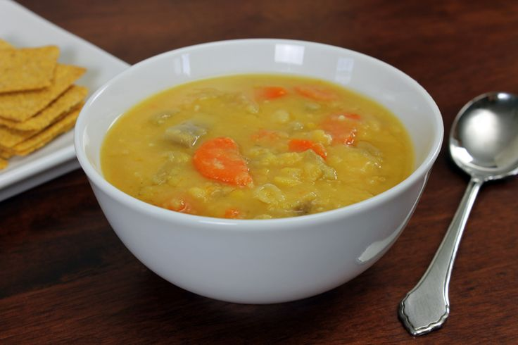 Yellow Split Pea Vegan Soup, recipe at http://www.veganlivingtoday.com ...
