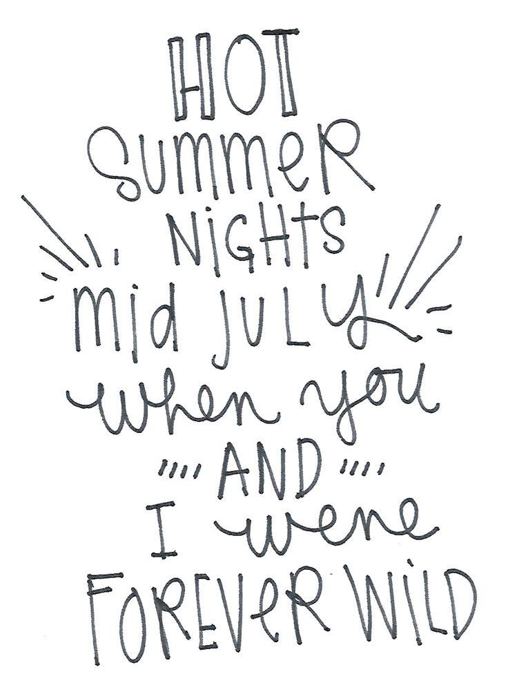 Typography, Lana Del Rey Lyrics.