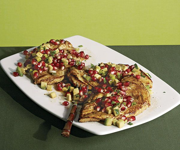 Chicken Paillards with Avocado and Pomegranate Salsa (this is even ...